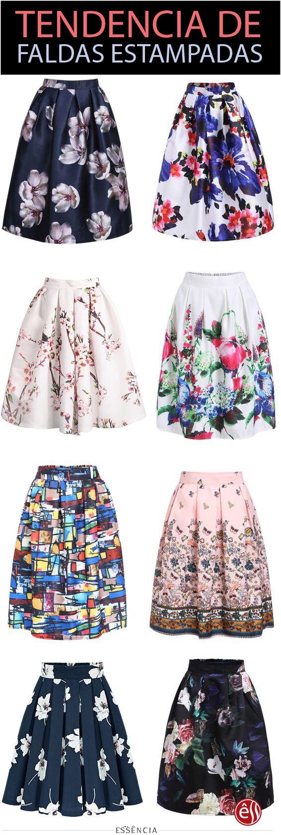 Descubre la última tendencia en faldas estampadas #Ropa #outfits #tutorial