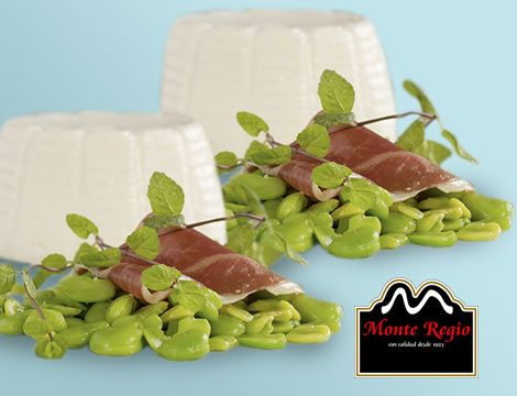 Queso blanco, habas y jamón ibérico #MonteRegio ¡Hora del aperitivo!