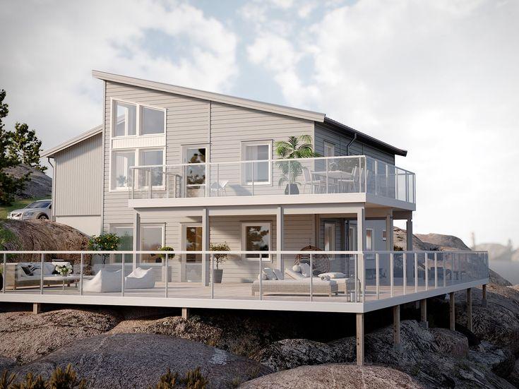 Dixi är ett litet men välplanerat hus. Varje kvadratmeter är utnyttjad på ett smart sätt och totalt kan du få plats med fyra sovrum.