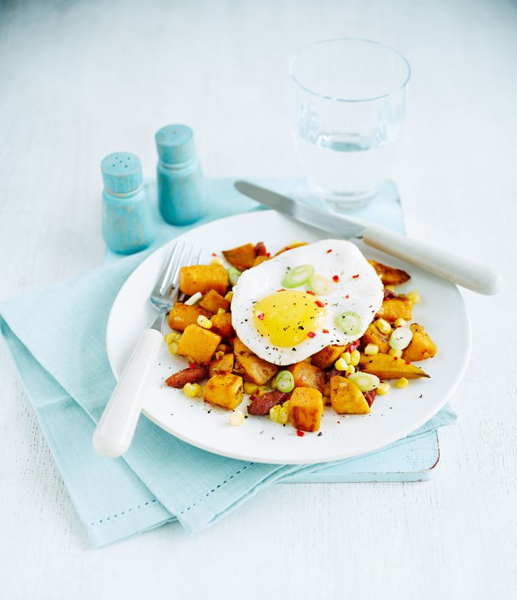Sweet potato hash with fried eggs | Egg Recipes