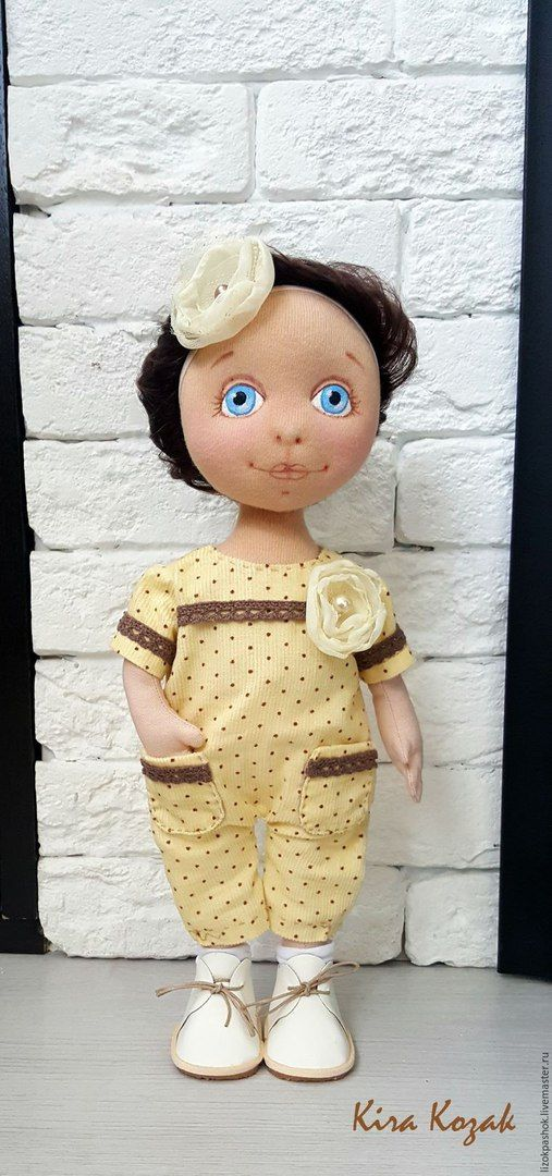 Шьем комбинезон в горошек для куклы, одежда для куклы, выкройка, мастер класс