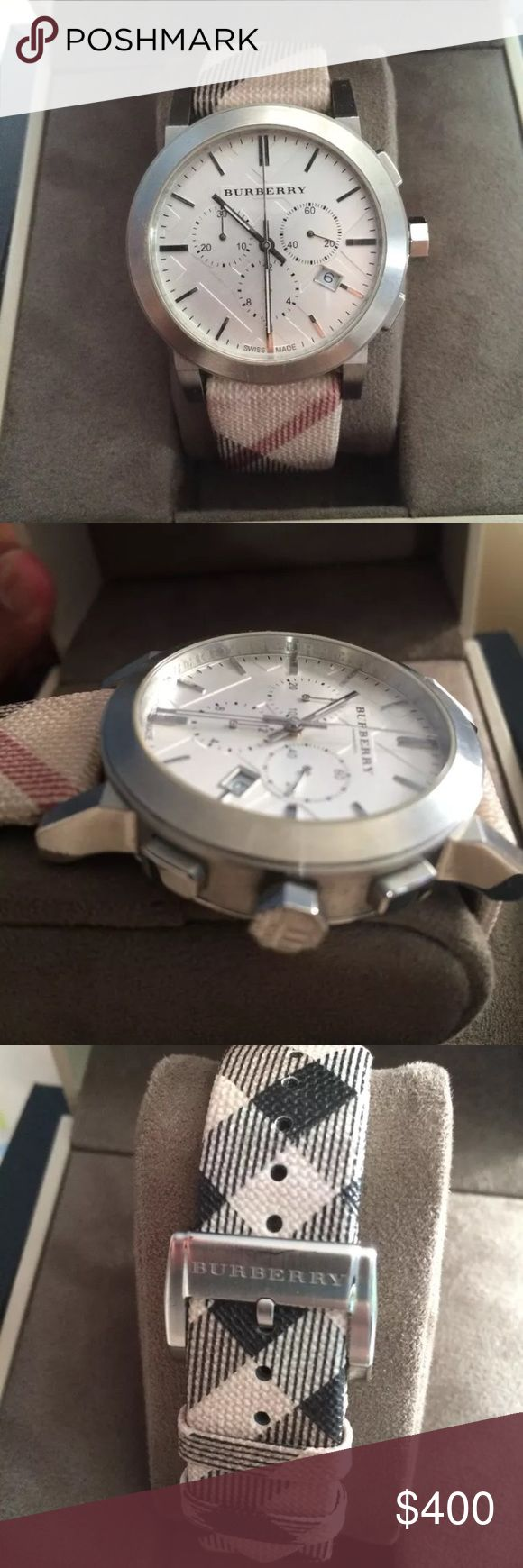 Burberry men's watch Burberry men's watch excellent condition. Has tags original purchased from Macy's Burberry Accessories Jewelry