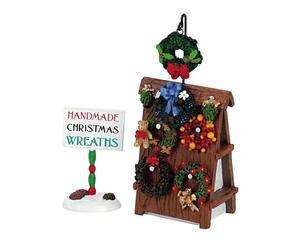 LEMAX Christmas Village Accessories WREATHS for SALE Figurine Set 2 FIGURINES | eBay