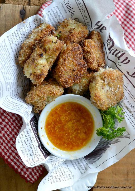 Crispy Coconut Cauliflower Bites #glutenfree #vegan - Fork & Beans