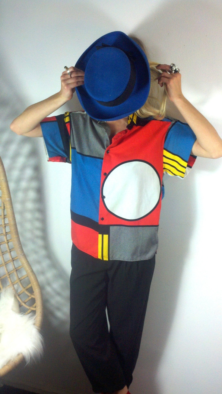 // vintage pop art blouse