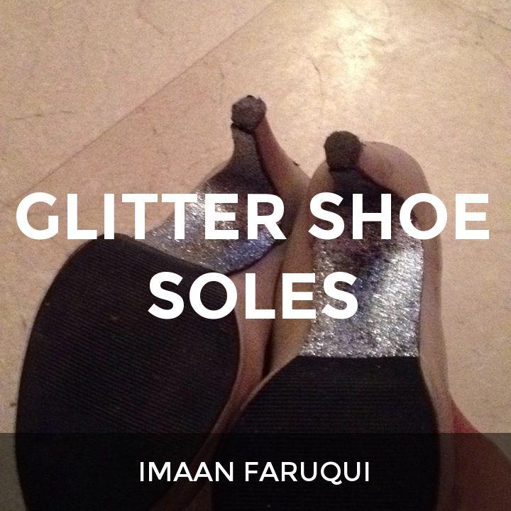 Glitter shoe soles: a How.Do DIY original