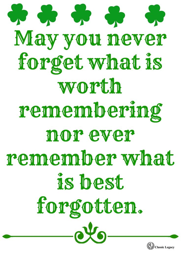Irish Quote Remember