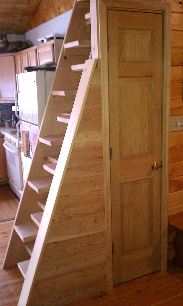 For those tight places where you need access to a loft. The alternating tread stair or Jefferson Stair was invented by Thomas Jefferson. http://www.countryplans.com/alt_stair/