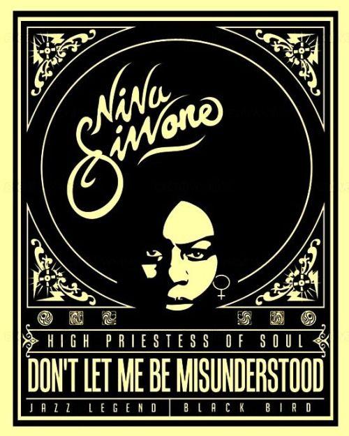 Nina Simone   High Priestess of Soul [Retro Poster]© Lorenzo Belmonte  [Via]