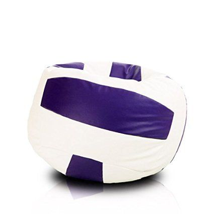 Turbo BeanBags Volleyball Style Bean Bag Chair Large White Violet