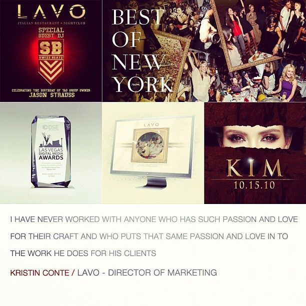 """""""I have never worked with anyone who has such passion and love for their craft and who puts that same passion and love in to the work he does for his clients"""" - Kristin Conte"""