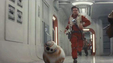the last jedi running GIF by Star Wars
