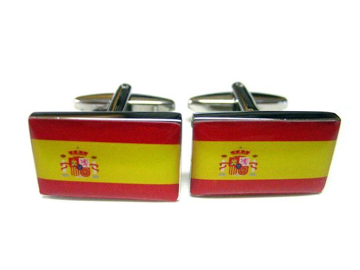 Spanish Flag Cufflinks
