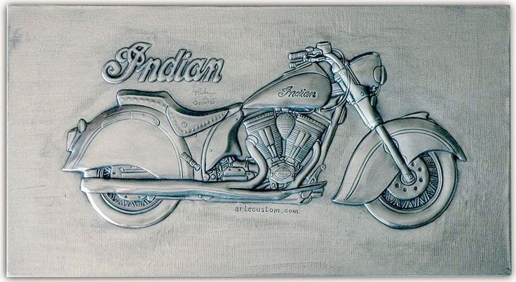 ArteyMetal: Placa custom indian 3