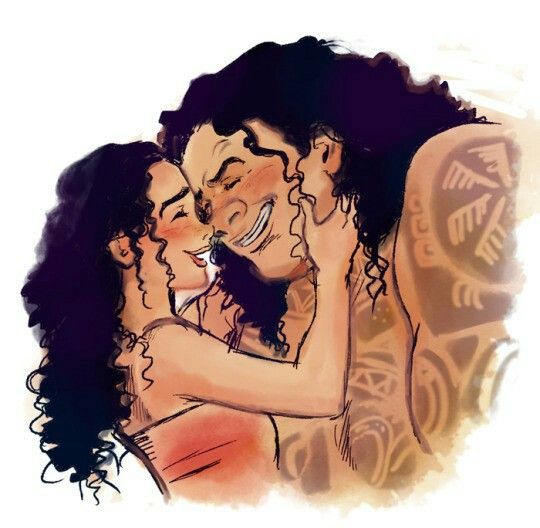 """Moaui fanart """"And the call isn't out there at all... It's inside me...."""" #moana #disney #fanart #moaui #hookedwayfinder #maui"""