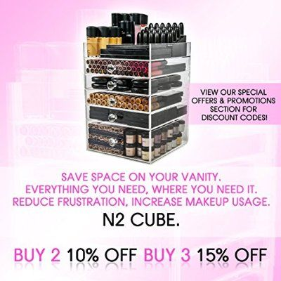 Acrylic Makeup Organizer Cube | 6 Drawers Storage Box For Vanity Tables | By N2 Makeup Co