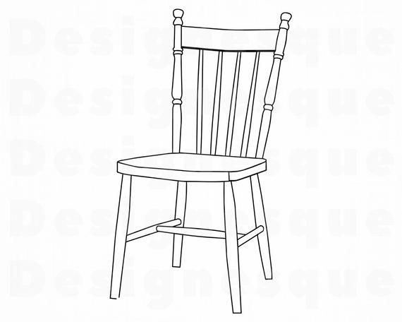 Chair Outline Svg Chair Svg Chair Clipart Chair Files For Etsy In 2020 Reupholster Chair Dining Reupholster Chair Chair