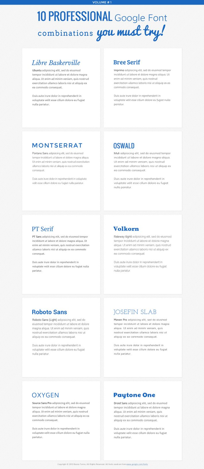 Best Google Font Combinations