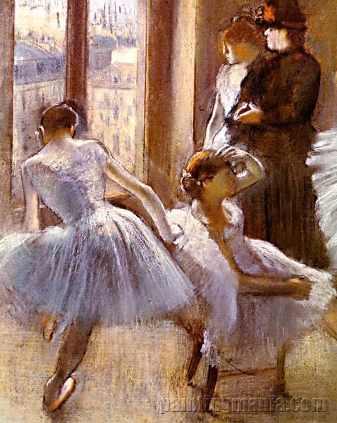 The Green Room At The Opera  Edgar Degas