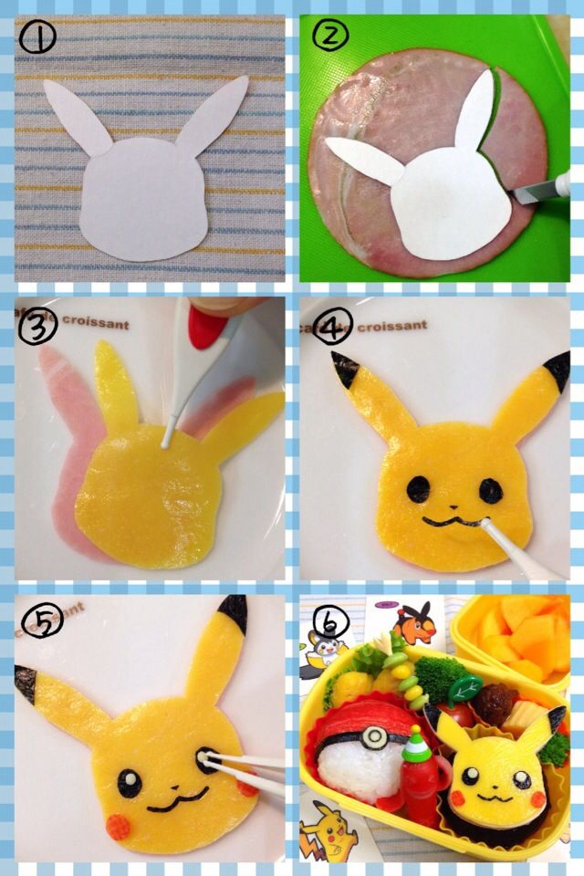 How to make pikachu for a character bento
