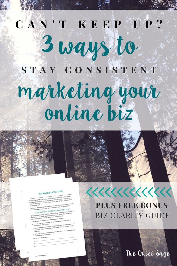 When it comes to growing an online business as a stay-at-home mom, consistent marketing is key. But how can you do that when you have limited time to devote to your business? Click through to read the 3 Ways To Stay Consistent with Marketing Your Online Business - even when you're working on an hour a day.