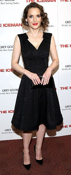 Winona Ryder: The Iceman Special Screening The actress attended the NYC screening of her new movie in a sophisticated cocktail dress and jewels by Kwiat.