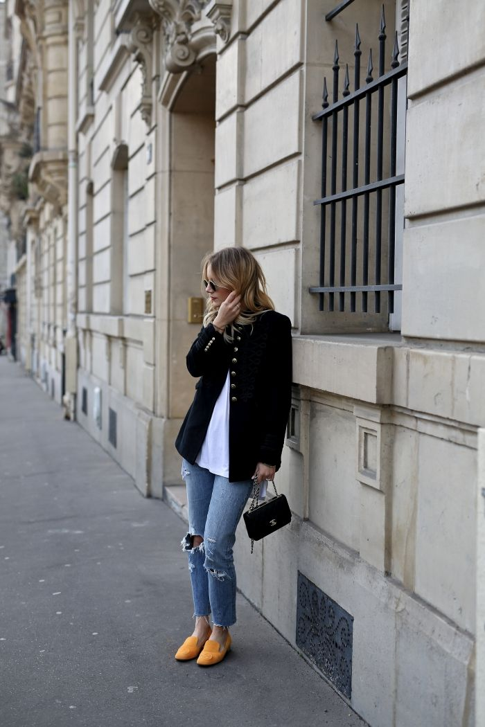 Paris Fashion Week – Military Jacket & Gucci Loafers - Shoppisticated
