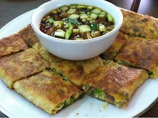 "Martabak Mesir (""Egyptian Omelet"") - typical Padang street eats."