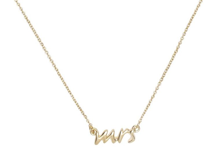 Oh my goodness, I want this! (kate spade | necklaces for women - say yes bridal mrs. necklace)