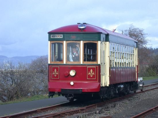 Astoria Riverfront Trolley - Astoria, Oregon- you can ride on the trolley along the riverfront for a dollar!
