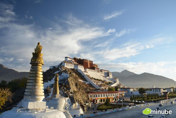 4) Lhasa, China: Lhasa is the spiritual center of Tibetan Buddhism and the rugged Himalayas set against Lhasa's incense-filled monasteries and palaces make for one of the most unforgettable views on Earth. (Photo by Juanjo Fontanet)