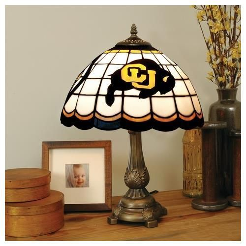 University of Colorado Buffaloes Stained Glass Table Top Lamp