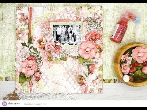 Color Challenge Mixed-Media Layout by Karine