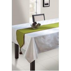 MACARIO'S FINE QUALITY REVERSIBLE TABLE RUNNER GREEN 31X255CM