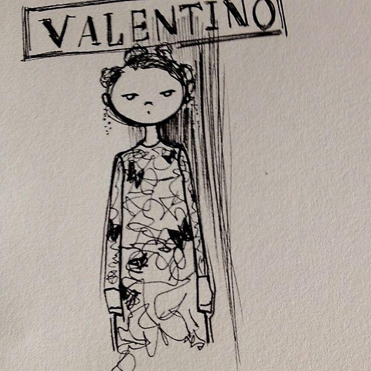 sketch #valentino #valentinodress #fashionillustration #sketch