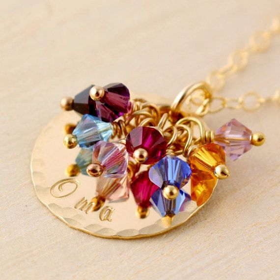 Oma Grandmother's Necklace with Swarovski by TNineDesign on Etsy