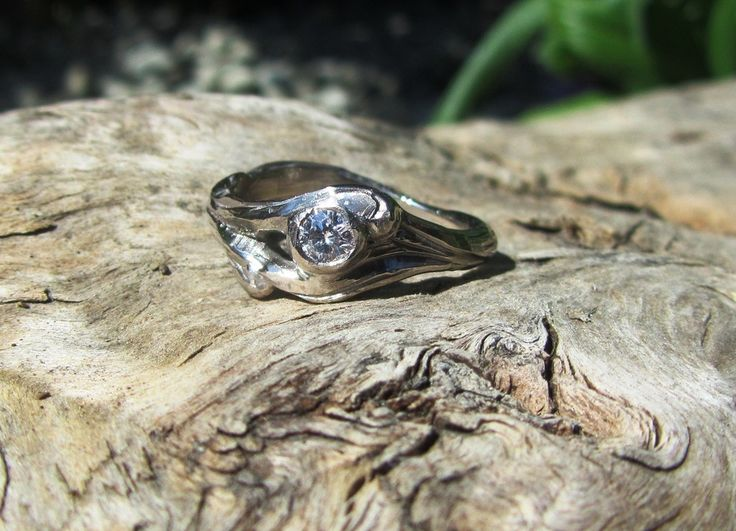 """Enna Glover Diamond \""""Wrapped in Nature\"""" ring"""