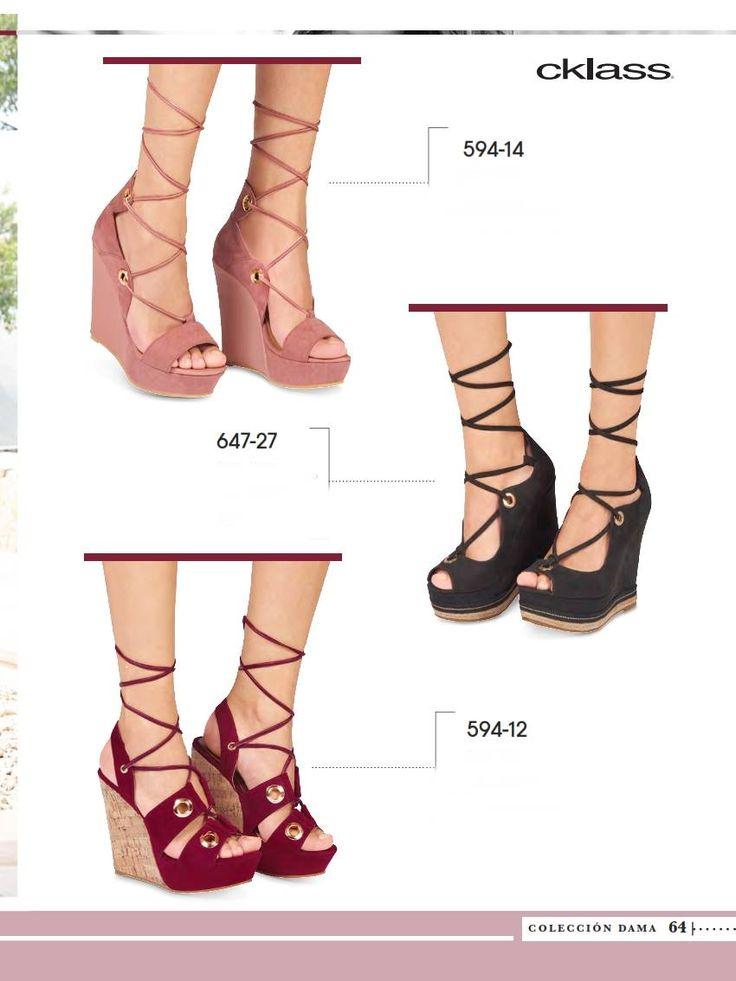 Sandalias Cklass Tacon Cuña para OI 2017. Elegante calzado casual para mujer con tiras cruzadas.