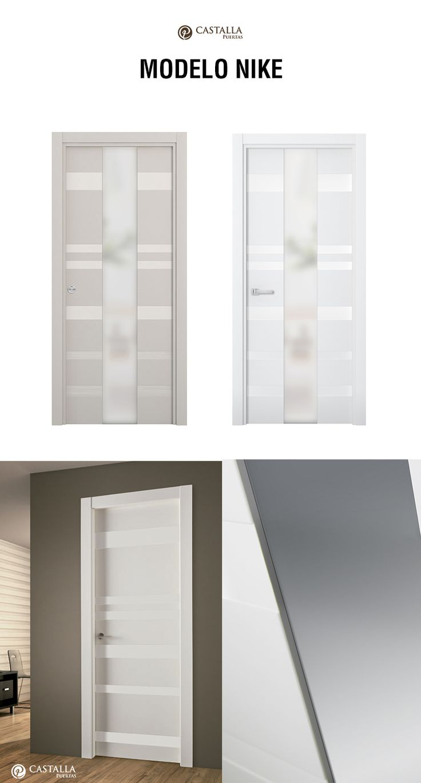 Puerta de interior con cristal Modelo NIKE. Puertas Castalla Glass interior door model NIKE Castalla Doors