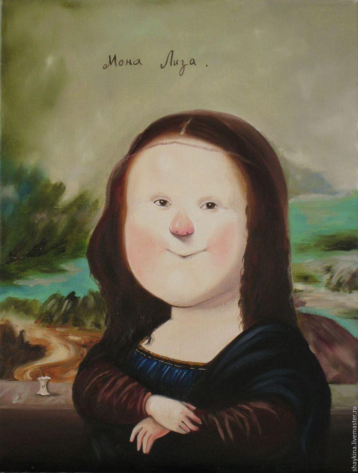"""Купить Картина маслом. """"Мона Лиза"""" Е. Гапчинская - картина, картина маслом, Живопись"""