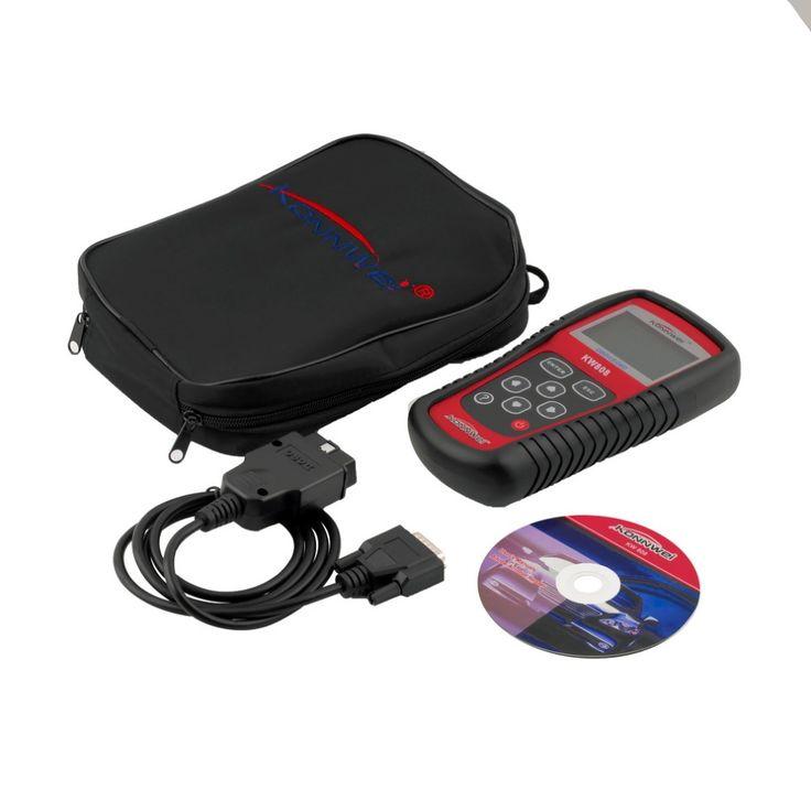 KW808 OBD2 OBDII EOBD Auto Scanner Diagnostic Live Data Code Reader Engine Control fit for CAN & all current OBD2 protocols #Affiliate