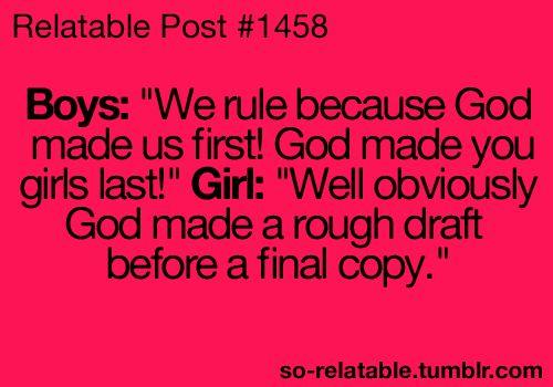 girls boys win humor jokes burn joke teen quote girl quotes funny joke oooh BURN
