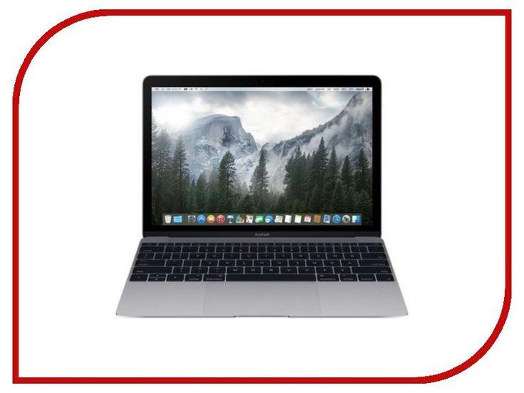 Ноутбук Apple MacBook 12.0 MJY42RU/A Space Grey Intel Core M 1.2 Ghz/8192Mb/512Gb/Intel Hd Graphics 5300/Wi-Fi/Bluetooth/Cam/12.0/2304x1440/Mac Os X