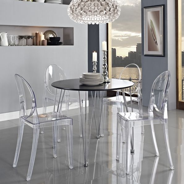 Attractive Caroline Modern Classic Side Chair | Clear Acrylic Dining Chair | On Trend  Furniture | Desk