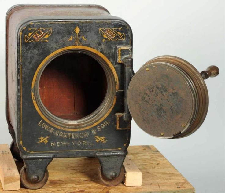 Louis Contencin Amp Sons Screw Door Safe 1899 Antique Safe
