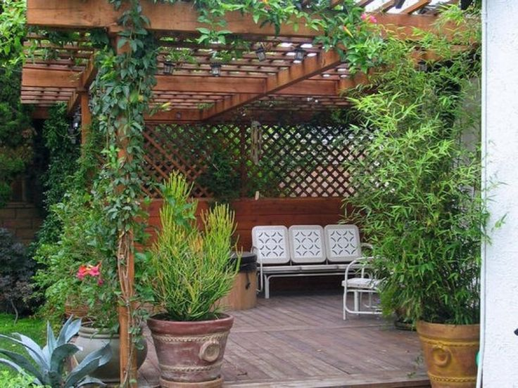 large pergola in the country