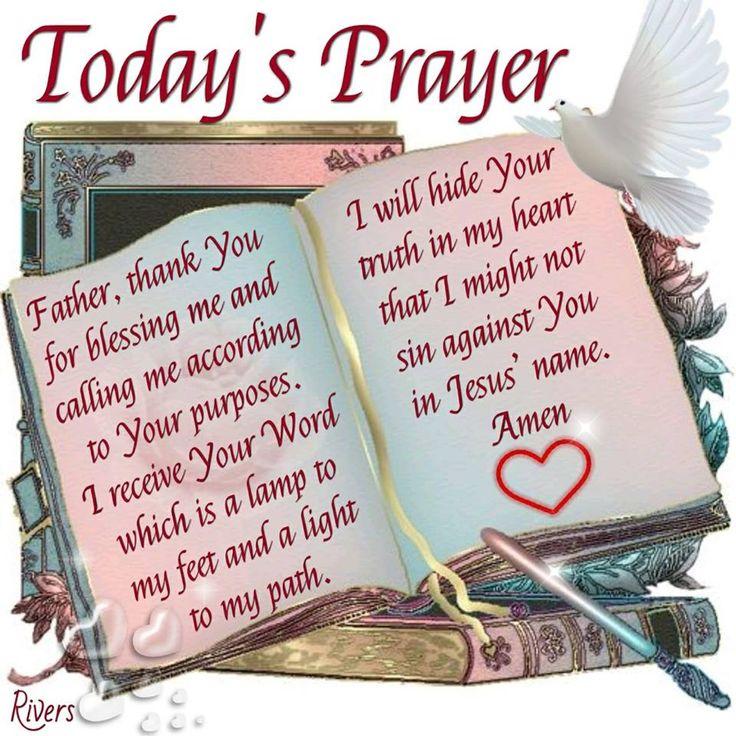 Today's Prayer-Amen.