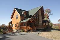 Gatlinburg Chalet Rentals with Four Bedrooms near Pigeon Forge Rental Cabins offered by Volunteer Cabin Rentals