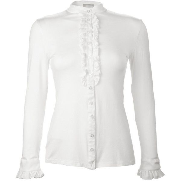 70 Off Ruffle Blouse Elegant Blouse White Shirt Women White Blouse... ($49) ❤ liked on Polyvore featuring tops, blouses, black, women's clothing, silk blouses, men shirts, white button down shirt, black button down shirt and ruffle shirt