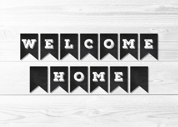 Welcome Home Missionary Banner -- Chalkboard Welcome Home Banner, LDS Missionary, Homecoming Party Banner, Printable, Instant Download